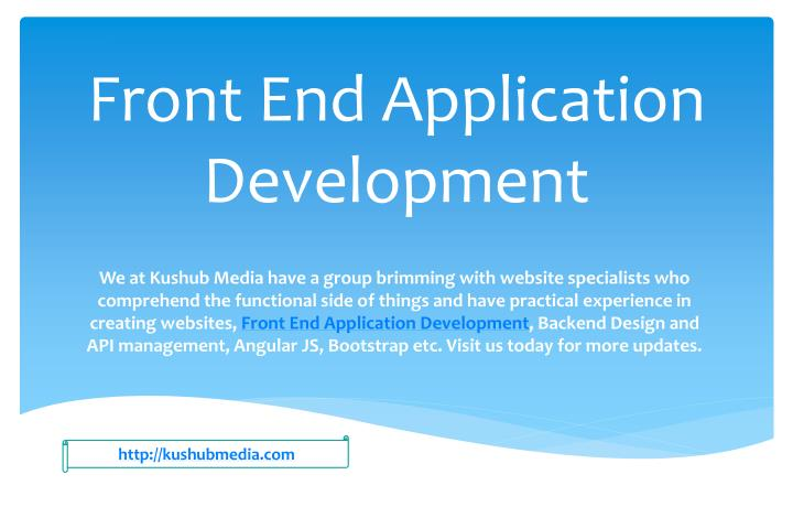 front end application development n.