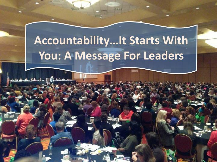 accountability it starts with you a message n.