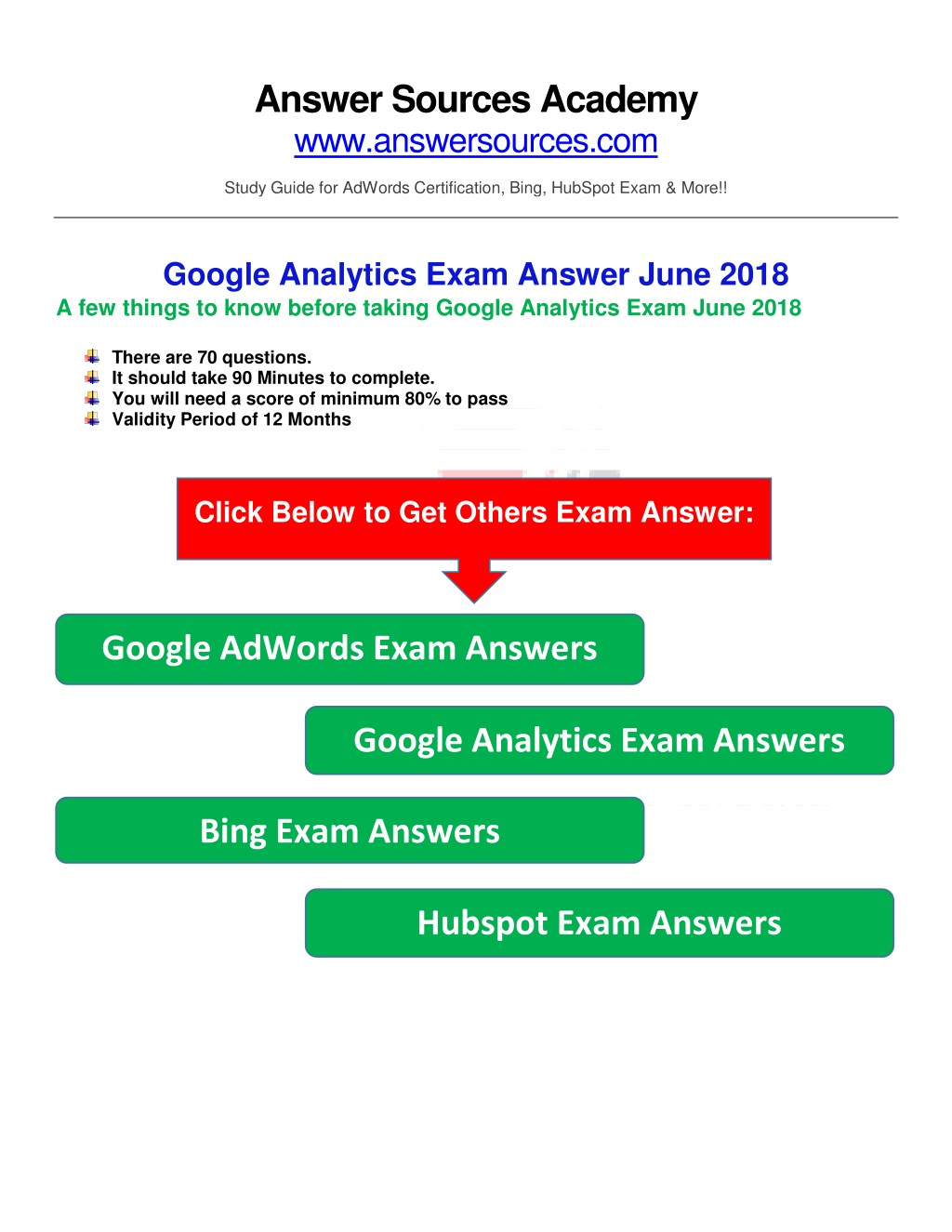 Ppt Google Analytics Certification Exam Answer June 2018