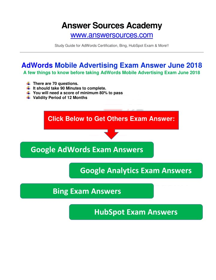 answer sources academy www answersources n.