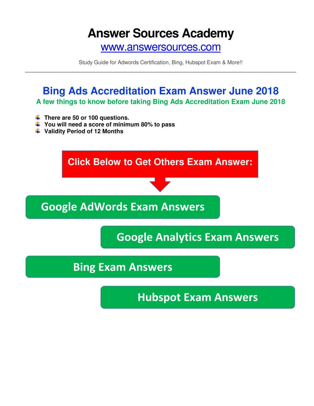 Ppt Bing Ads Accreditation Exam Answer June 2018 Powerpoint