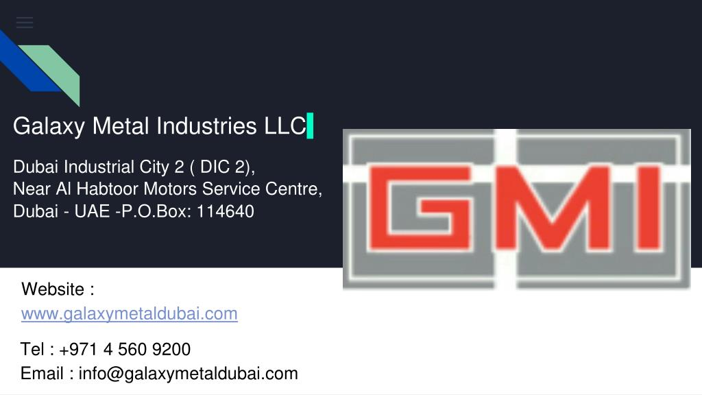 PPT - Street Signage Suppliers in Dubai | Galaxy Metal