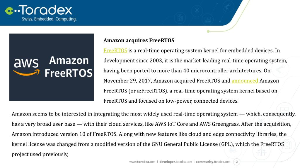 PPT - Amazon FreeRTOS, Heterogeneous cores and the all-new Apalis