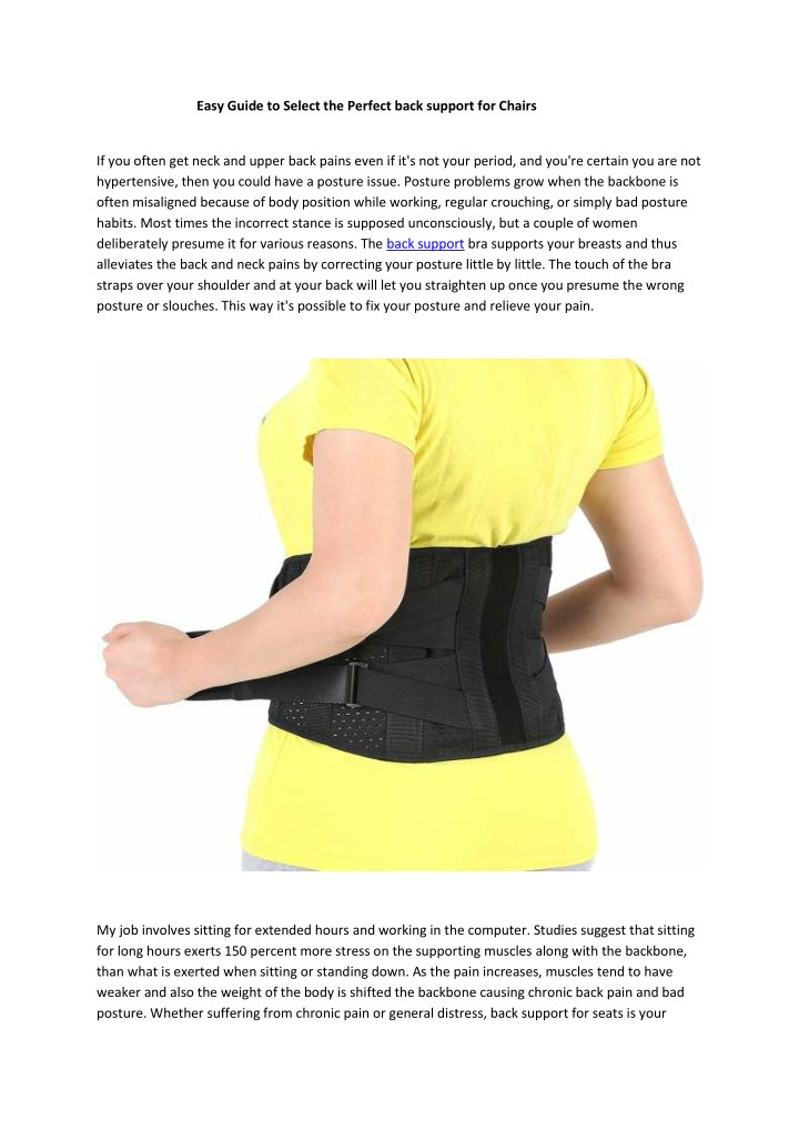 easy guide to select the perfect back support n.