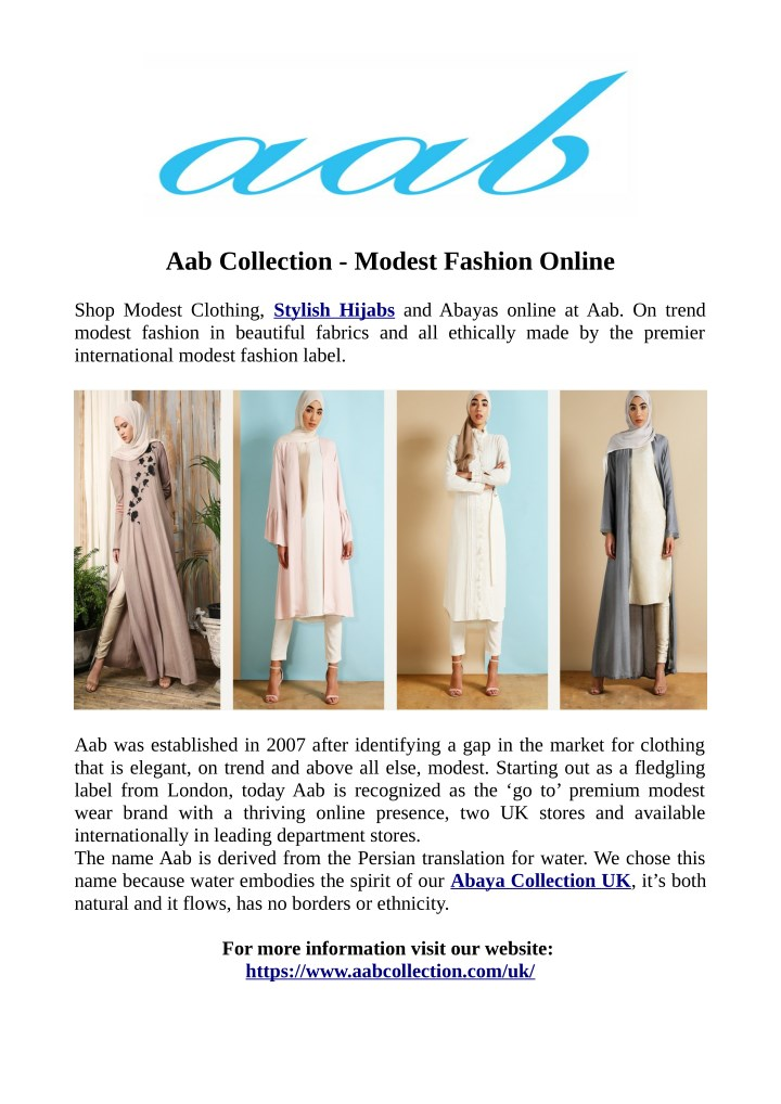 aab collection modest fashion online n.