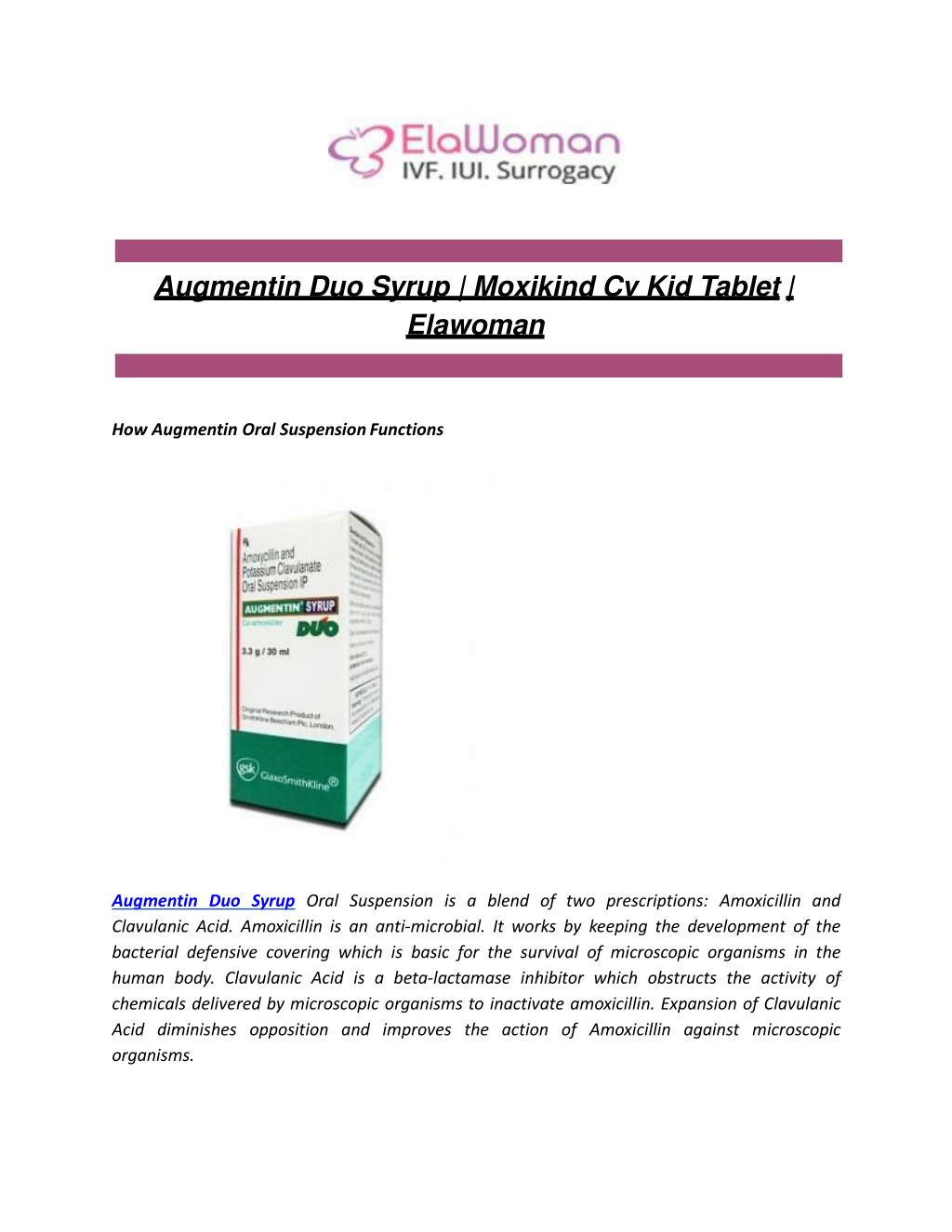 Features of Augmentin in children