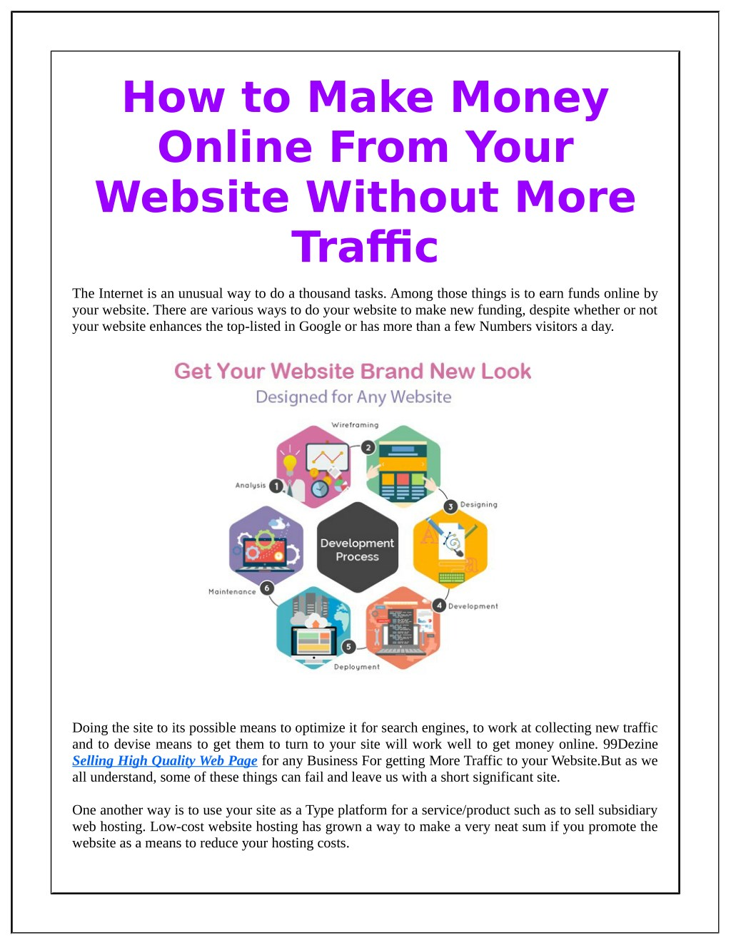 ppt how to make money online from your website without more