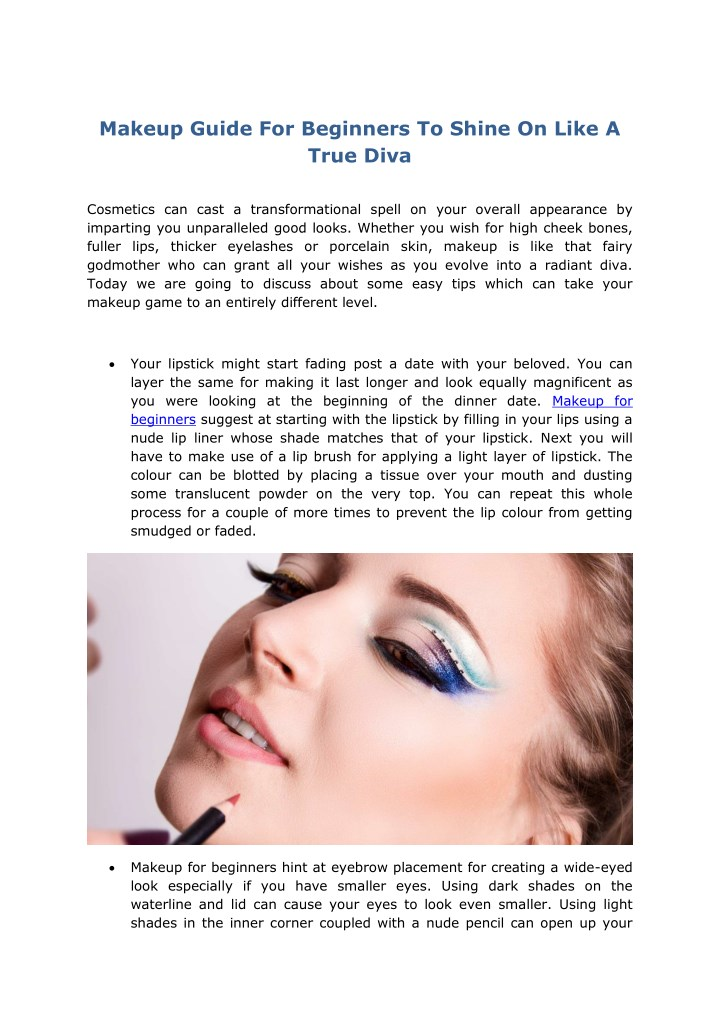 Makeup Guide For Beginners To Shine On Like A