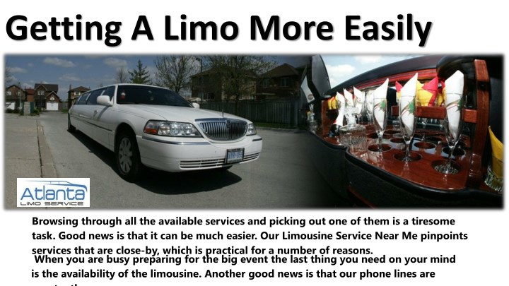 getting a limo more easily n.