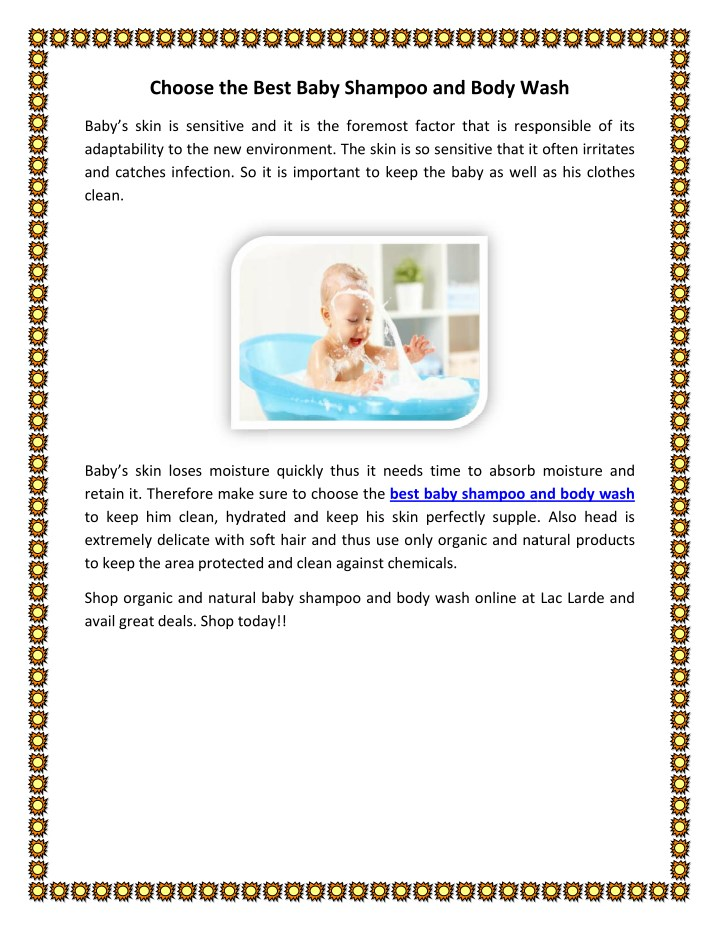 choose the best baby shampoo and body wash choose n.