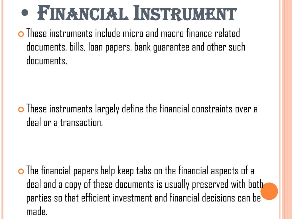 PPT - Different Kinds of Banking Instruments PowerPoint