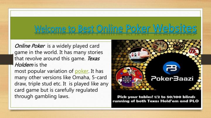 Ppt Welcome To Best Online Poker Websites Powerpoint