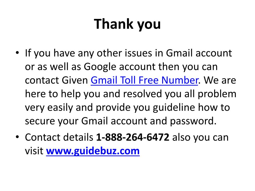 PPT - How To Recover Gmail Password Without Security