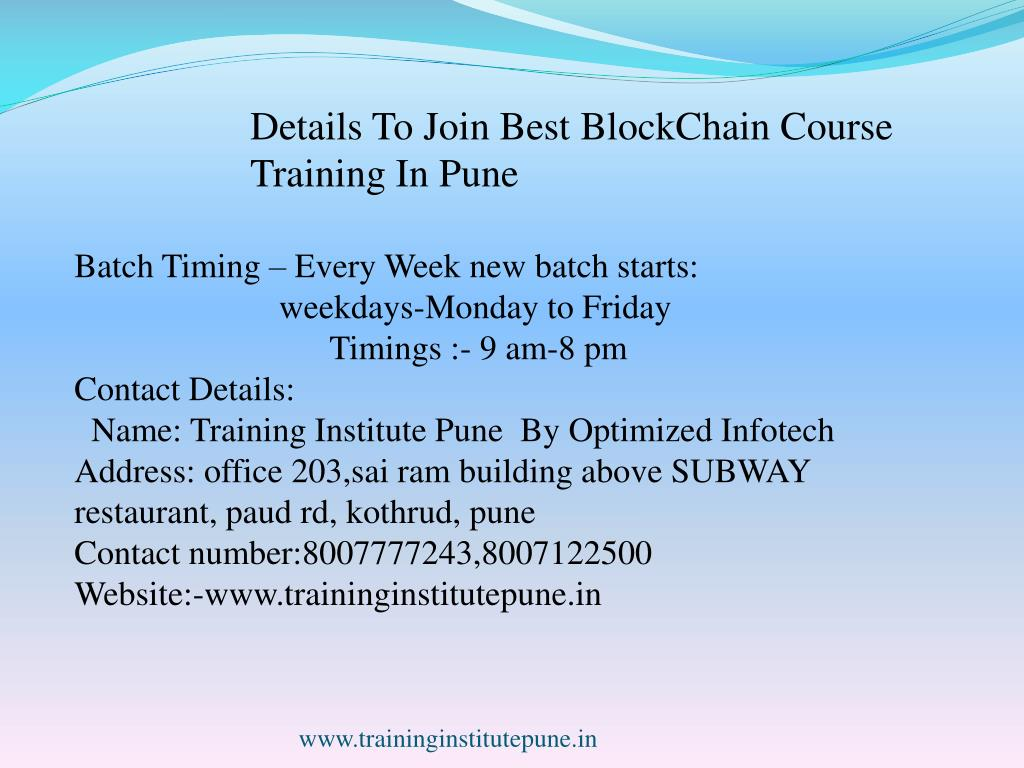PPT - Best Blockchain Training Courses In Pune PowerPoint