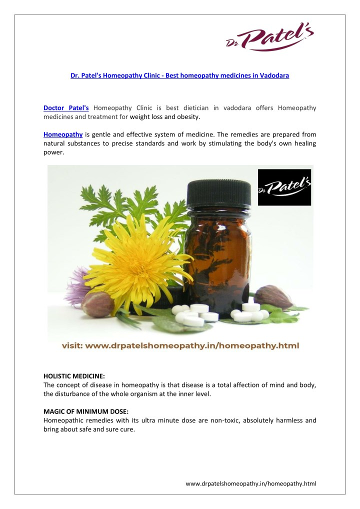 PPT - Dr  Patel's Homeopathy Clinic: Homeopathy medicine & treatment