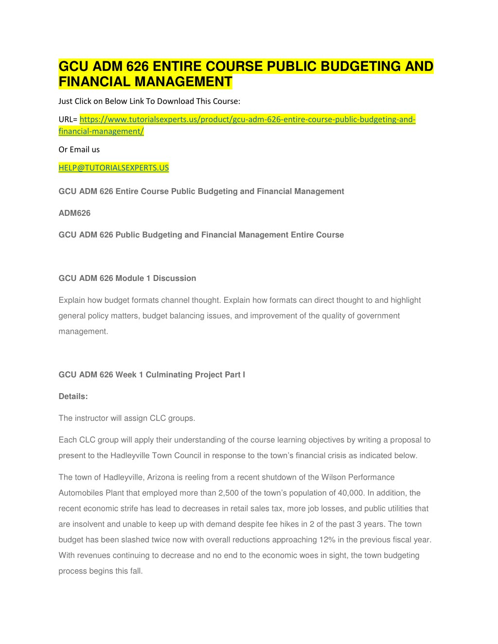 ppt gcu adm 626 entire course public budgeting and financial
