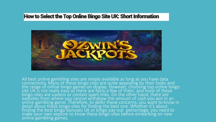 how to select the top online bingo site uk short information n.