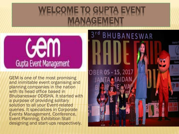 welcome to gupta event management n.