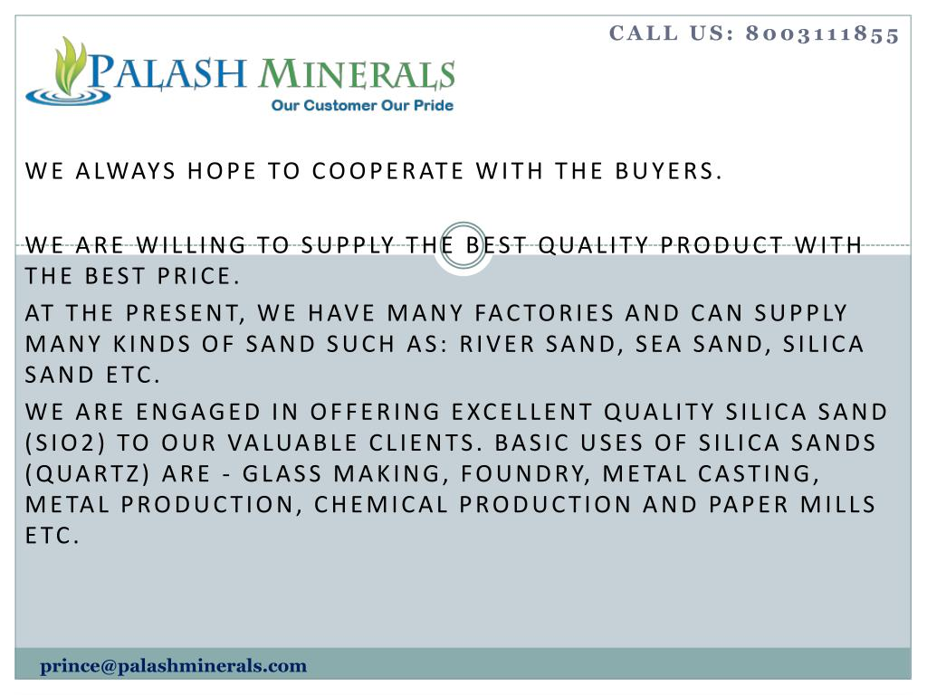 PPT - Best Exporters of Silica Sand in Vietnam south Korea