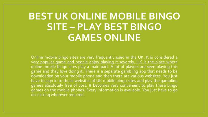 best uk online mobile bingo site play best bingo games online n.