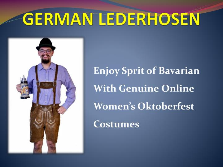 german lederhosen n.
