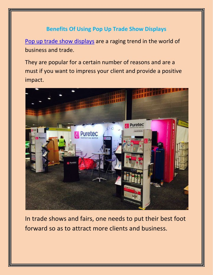 benefits of using pop up trade show displays n.