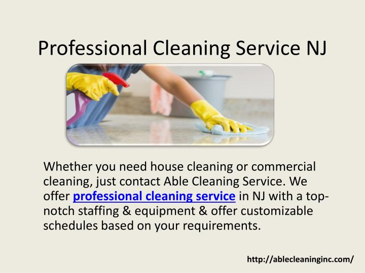 professional cleaning service nj n.