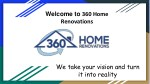 welcome to 360 home renovations