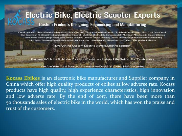 PPT - Best Electric Bicycle in China PowerPoint Presentation