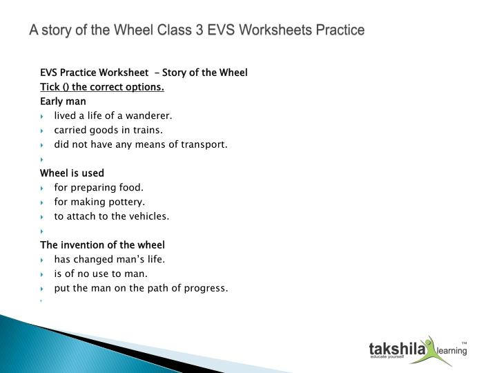 Ppt A Story Of The Wheel Class 3 Evs Worksheets Practice
