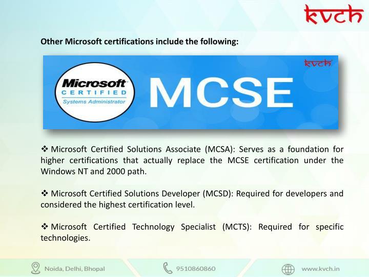 Ppt Mcse Certification Training In Noida Mcse Training Kvch