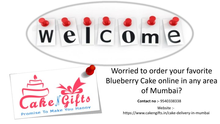 worried to order your favorite blueberry cake n.