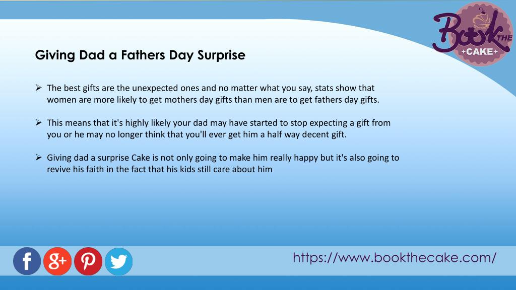 PPT - Make your father feel special with the father's day