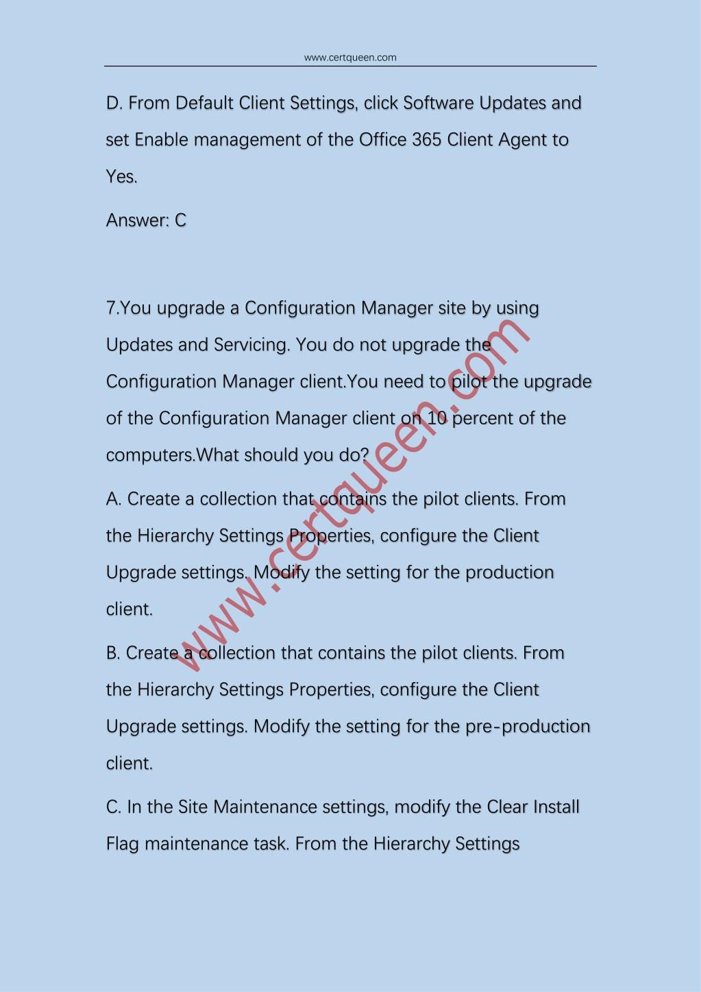 PPT - 2018 Certqueen Microsoft SCCM 70-703 Exam Dumps PowerPoint