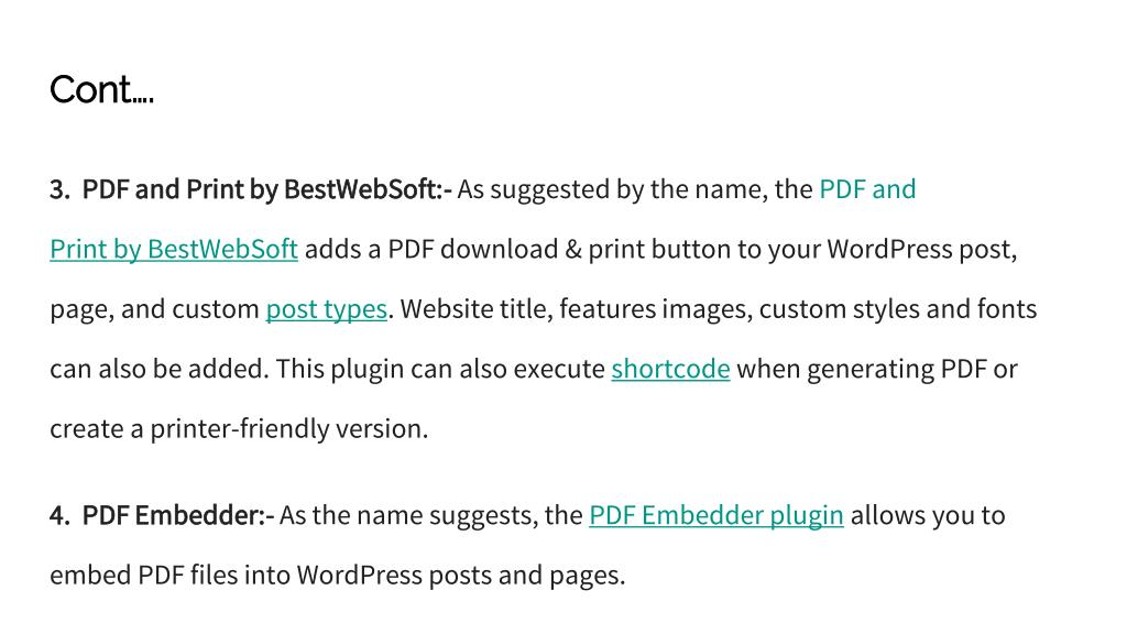 PPT - Top 9 WordPress PDF Plugins- [Best Plugins of 2018