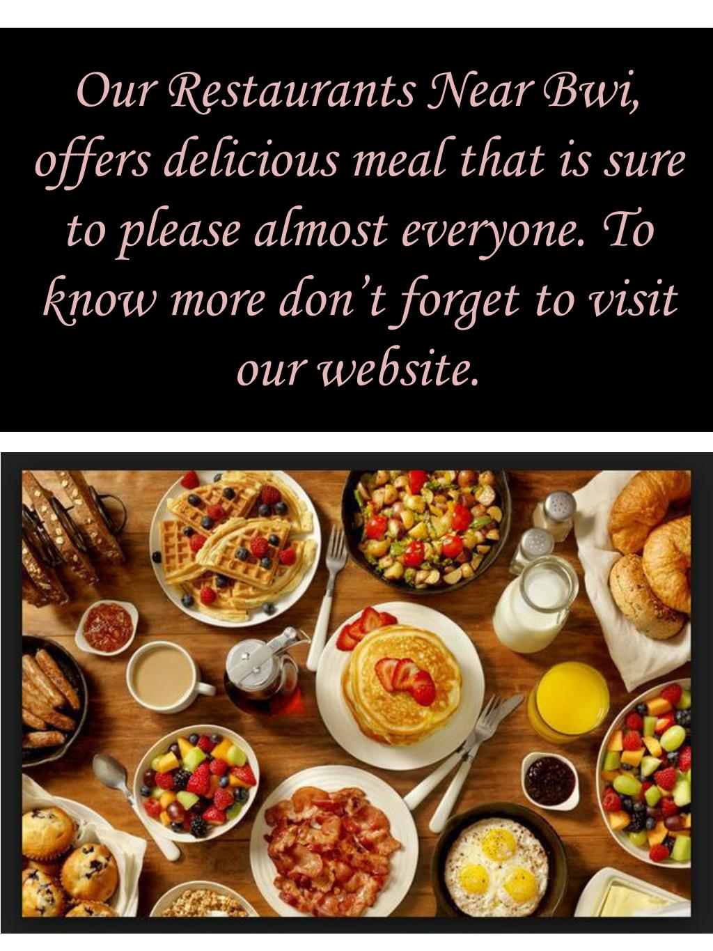 Ppt Restaurants Near Bwi For Catering Service Point
