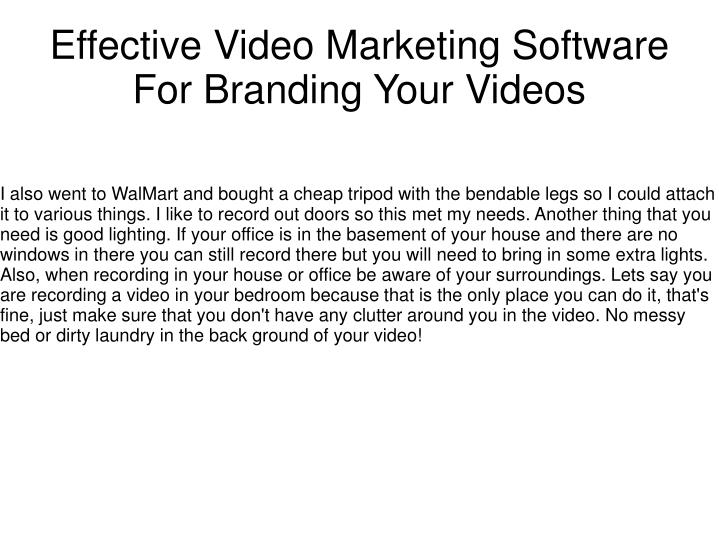 effective video marketing software for branding your videos n.