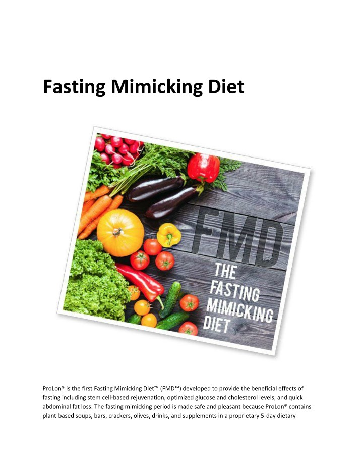 PPT - Fasting Mimicking Diet PowerPoint Presentation - ID