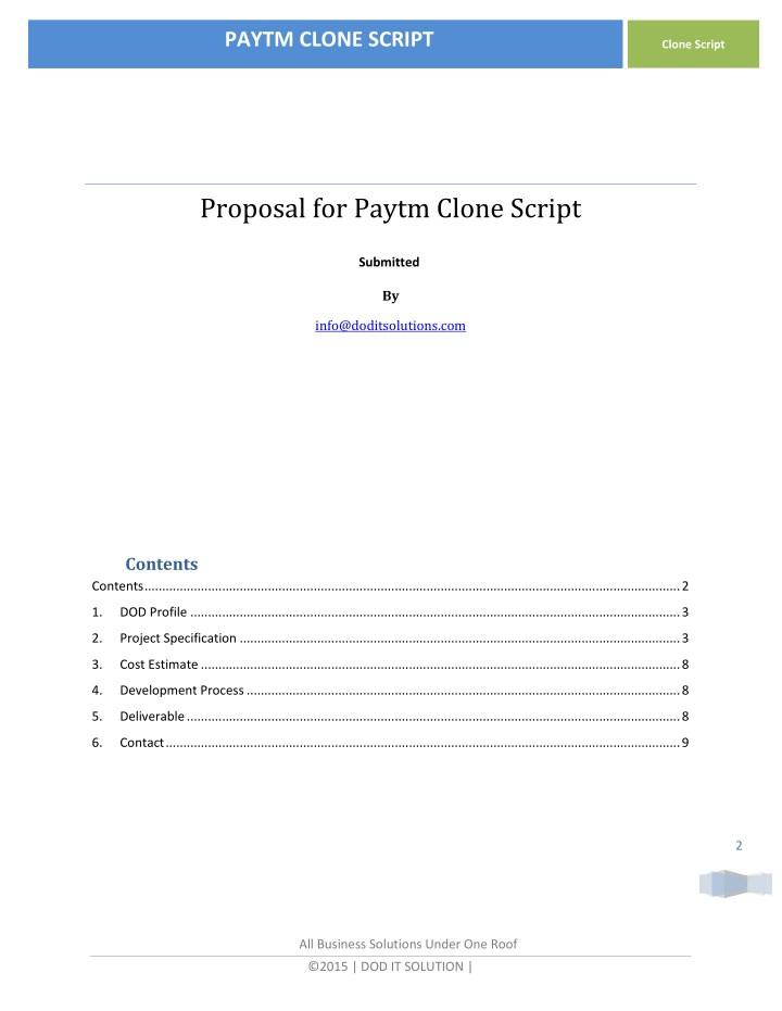 PPT - PAYZAPP CLONE SCRIPT PROPOSAL DOCUMENT PowerPoint