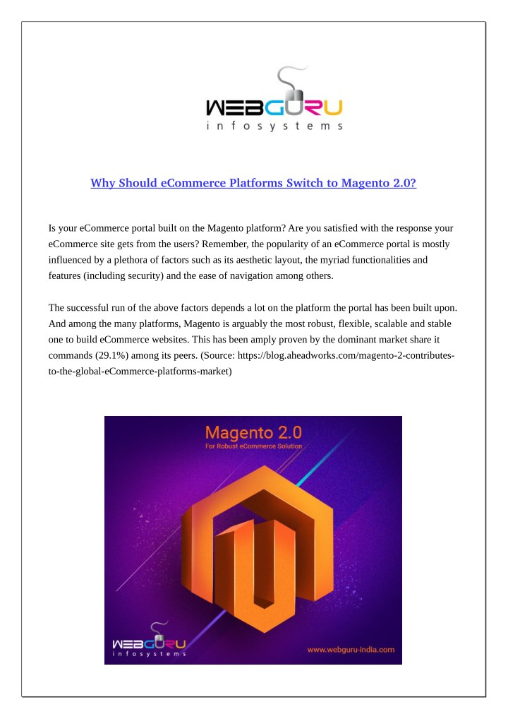 why should ecommerce platforms switch to magento n.