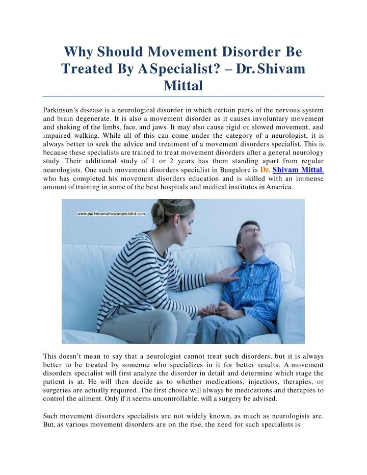 PPT - Why Should Movement Disorder Be Treated By A