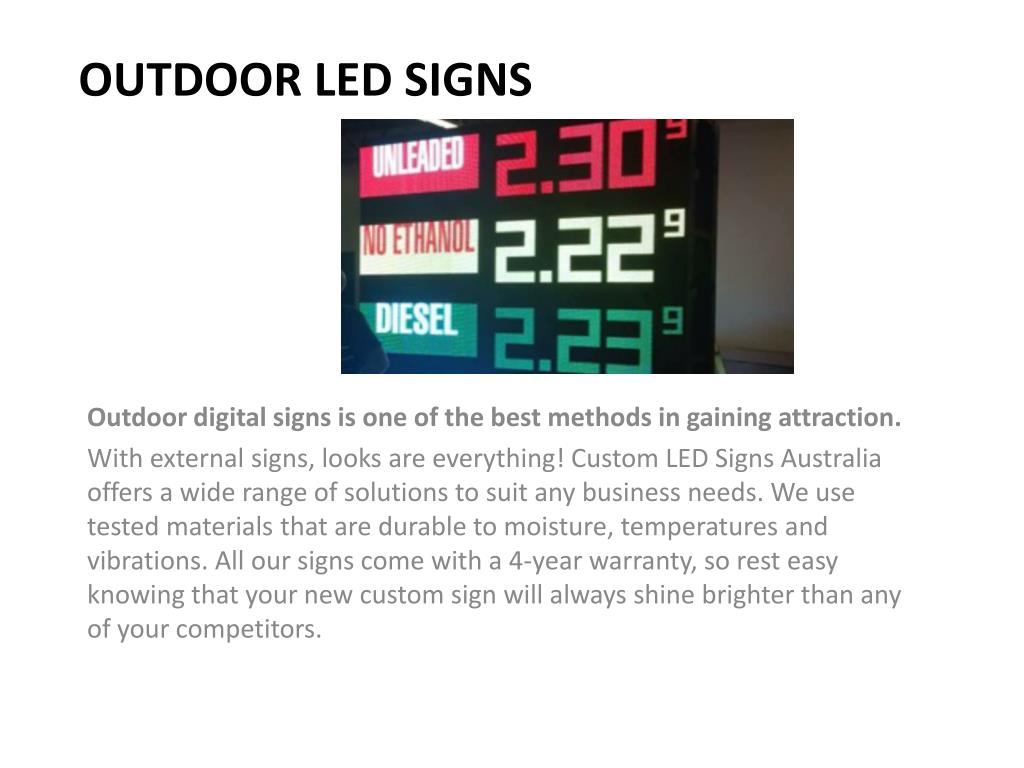 PPT - Led Display Signs - Customled Signs PowerPoint