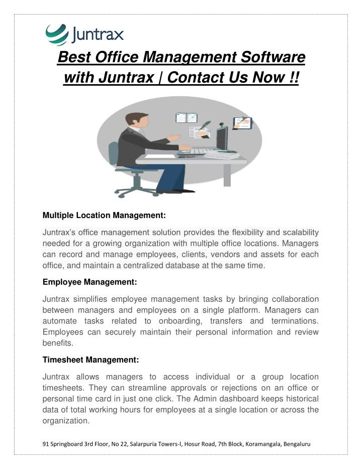 best office management software with juntrax n.