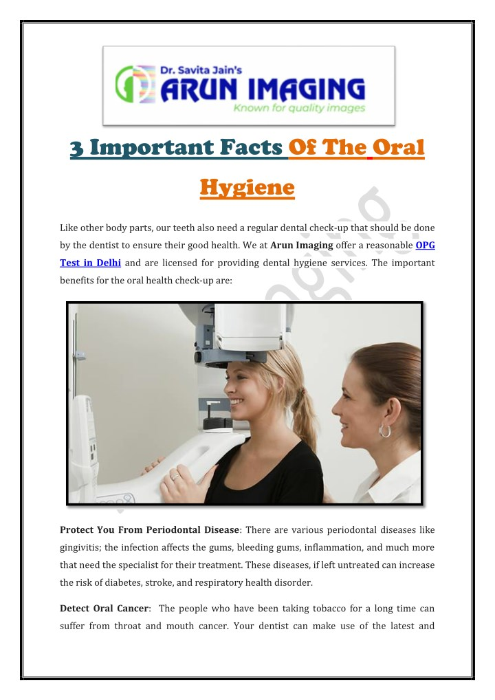 3 important facts of the oral n.