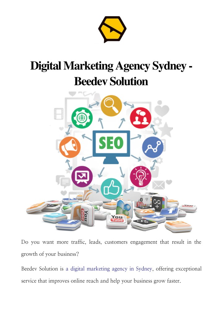 digital marketing agency sydney beedev solution n.