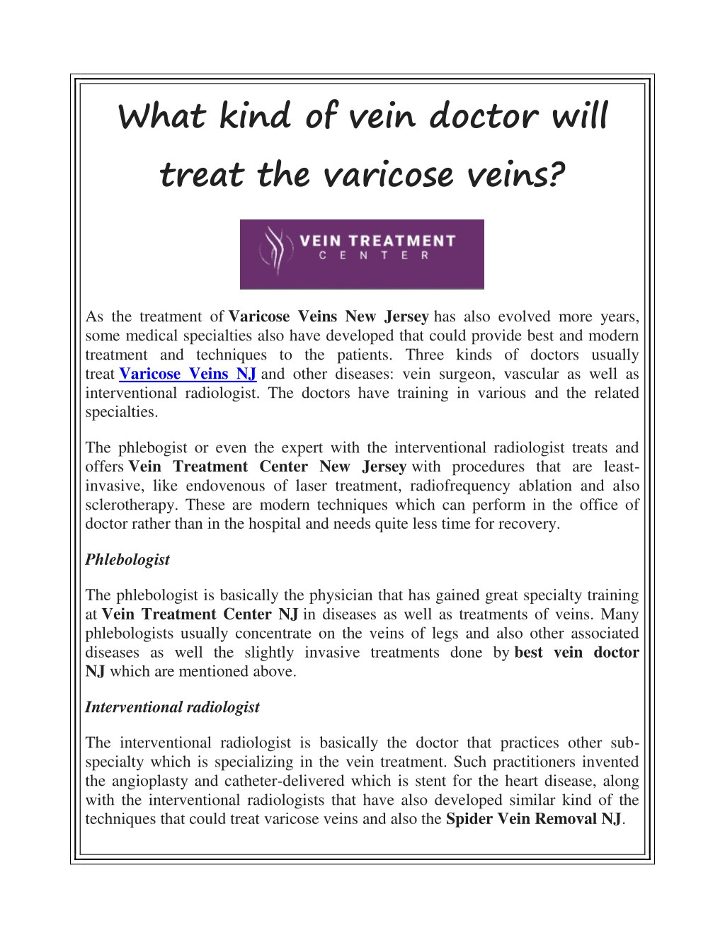 doctor fhlebology tratament varicose