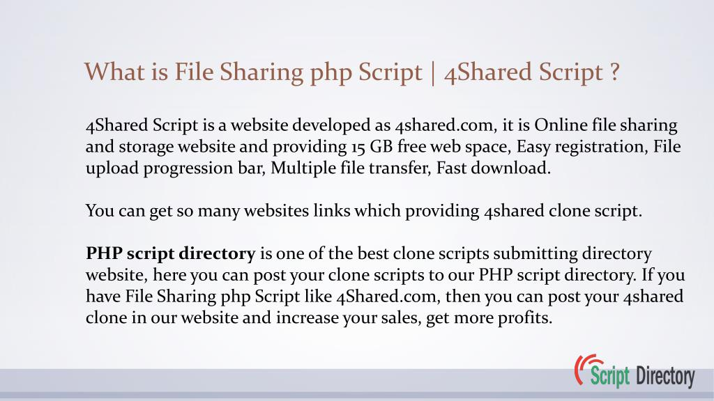 PPT - Post your File Sharing php Script demo links in php script