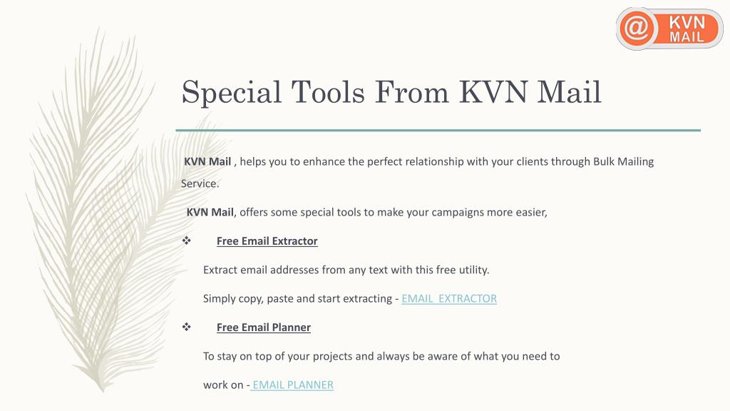 PPT - Email Marketing Service | KVN Mail PowerPoint Presentation