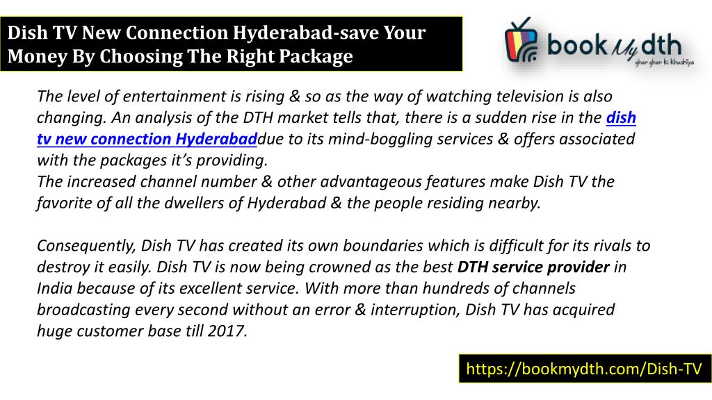 PPT - Dish Tv New Connection Hyderabad : Save Your Money By