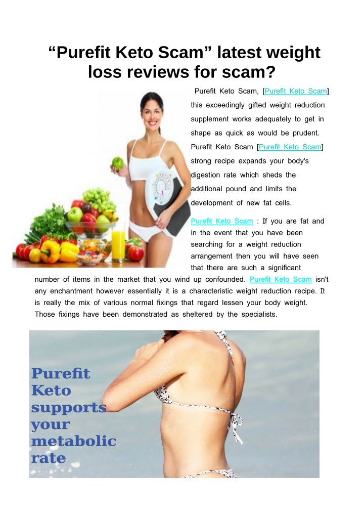 purefit keto scam latest weight loss reviews n.